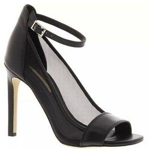 BCBGeneration Mesh Black Strap Natalee Heels